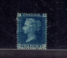 GREAT BRITAIN stamp #30 2d blue Perf 14 mint hinged og fine