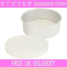 "Greaseproof Circles - 6"", 7"", 8"", 9"" & 10"" Inch - Round Baking Paper Tin Liners"