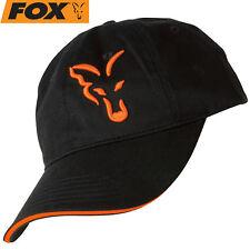 Fox Black / Orange Baseball Cap - Anglercap, Anglercap, Cappy für Angler