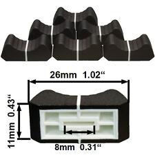 Nuevo 6 Prof. Botón de Fader Negro 8mm Control Deslizante Potenciómetro Poti