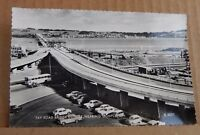 Postcard .Tay road bridge nearing Completion  real photo unposted