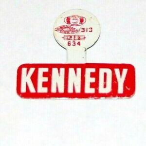 1968 ROBERT F. KENNEDY BOBBY RFK TAB campaign pinback button political president