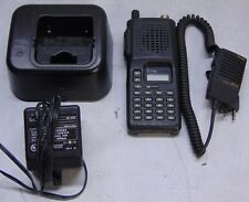 Icom Model Ic F3 2 Portable Radio With Hm 46 Mic Bc 119 Charger Amp Ad 81b Adapter