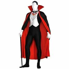 Mens Vampire Dracula Partysuit Halloween Costume Fancy Dress Outfit Large Size