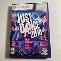 Just Dance 2018 (Microsoft Xbox 360, 2017) Video Game Free Ship Good Condition