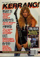 Megadeth on Kerrang Cover 1990  Jon Bon Jovi  Ratt Black Sabbath Blackie Lawless