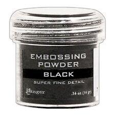 Ranger Embossing Powder Black Super Fine 1oz Jar - Fill Weight Varies