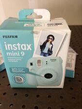 Fujifilm Instax Mini 9 Ice Blue Instant Film Camera W/ accessories Check Photos