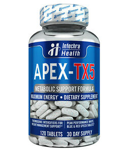 APEX TX5 - Fat Burning Weight Loss Diet Pills That Work - 120 White/Blue Tablets