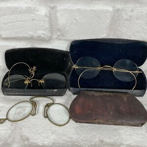 VINTAGE EYEGLASSES SPECTACLES with Case