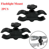 2PCS/25mm - 33mm Barrel Mount Clip LED Flashlight Torch Sight Laser Scope Clamp