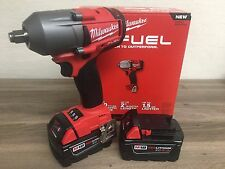 "New Milwaukee Fuel M18 2861-20 18V 1/2"" Brushless Impact Wrench + (2) 5.0AH Batt"