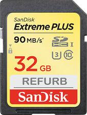 SanDisk Extreme PLUS 32 GB SDHC memory card SD 32GB 90MB/s class 10 V30 32G
