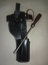 German C96 Broomhandle Mauser Dark Brown Leather Holster w/Cleaning Rod - Repro