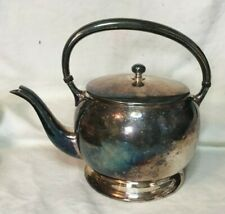 *Vintage ACADEMY Silver on Copper Silverplate Teapot with Lid