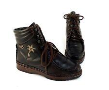 Botines pikolinos botas con cordones zapatos Trachten cuero genuino marrón verde talla 36
