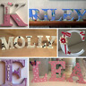 ❤ Painted decorated personalised letters. Freestanding wooden initial 10cm-30cm❤