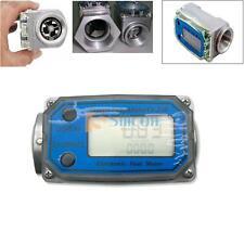 Turbine Digital Diesel Fuel Flow Meter Oval Gear Flow Gauge BSPT/NPT 1