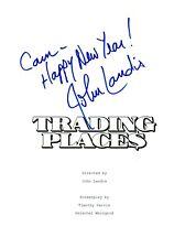John Landis Signed Autographed TRADING PLACES Movie Script COA