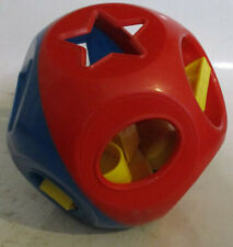 Vintage Tupperware Ball Learning Toy Red Blue shapes plastic complete 10 pieces