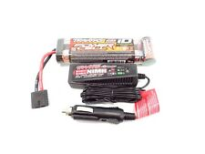 NEW TRAXXAS SLASH 8.4v 3000MAH POWER CELL iD BATTERY & FAST CHARGER 7 CELL EMAXX