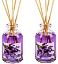 LAVENDER SCENTED ESSENTIAL OIL ROOM AIR FRESHENER REED DIFFUSER + STICKS 2x30ml