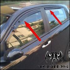 Set 4 Deflettori Aria Antiturbo Oscurati Alfa Romeo 147 5 Porte 2000-2010