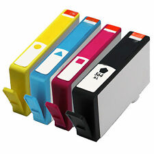 *4pk Ink Set For HP Photosmart 6510 6512 6515 6520 6525 7520 564XL 564 with Chip