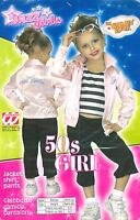 ABITO, COSTUME CARNEVALE, JAZZ GIRLS, 50s GIRL, TIPO GREASE ( 4-5 ANNI ) WIDMANN