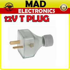 12 volt Power Socket Extention T Plug Caravan Boat Marine 4Wd Low voltage 2 pin