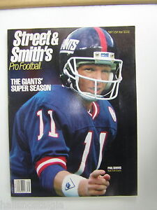 1987 Street and Smith's Official Pro Football Yearbook with QB Phil Simms cover