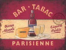 Pastis Liqueur, Bar Tabac Retro Pub Bar Cafe Restaurant, Small Metal Tin Sign