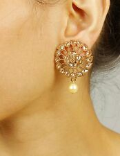 7315 Ethnic Antique Oxidized Indian Earrings Vintage Jhumka Jhumki Jewelry