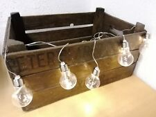 set of 5 vintage retro style light bulb LED lights hanging or Christmas tree