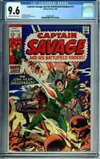 CAPTAIN SAVAGE AND HIS BATTLEFIELD RAIDERS 13 CGC 9.6  HIGHEST GRADED SILVER AGE