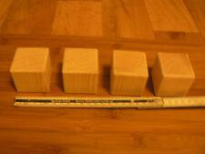 4 Möbelfüße Kiefernwürfel 50 x 50 x 50 mm, 5x5 cm Holzwürfel Würfel Kiefer Holz