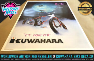 ET - Kuwahara E.T. BMX Poster 12x18 (Regular) The Extra Terrestrial 1980's Movie