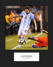 LIONEL MESSI #9 (Argentina) Signed10x8 Mounted Photo Print - FREE DELIVERY