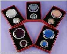 Brown Cristal Sac à main Porte-Crochet Cintre Pliable Sac à Main Maquillage Compact Miroir