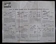 Granberg Alaskan Mk 111 Copy of Instruction & Parts Guides