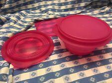 Tupperware Flat Out Container Flat Out Schalen 3 Cup Menge 2 dunkelrosa NEU