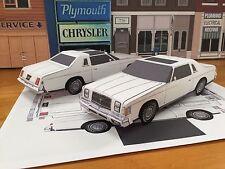 Papercraft 1979 Chrysler 300  Sunroof EZU-Make Chrysler Cordoba Paper Model Car