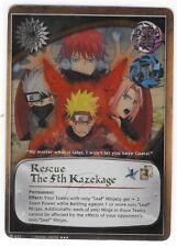 NARUTO CCG #622 RESCUE THE 5th KAZEKAGE THREE STAR SUPER RARE FOIL