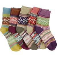 cosey – wärmende Winter-Socken – 5er-Set Einheitsgröße 33-40 – Norweger Design