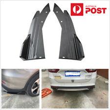 2Pcs Car Rear Bumper Side Blade Splitter Diffuser Winglet Wing Carbon Fiber Look