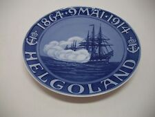 """Royal Copenhagen Plate 1914 Helgoland 7 3/4"""" 1,761 Made Rc#150 / See Details"""