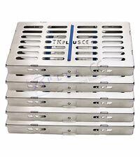 sterilizzazione CASSETTA ripiani per 7 strumenti acciaio inox DENTISTICO