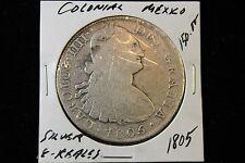 1805 COLONIAL MEXICO SILVER 8 REALES COIN,  OLD MEXICO SILVER COIN