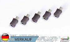 5 Stück Micro USB 5 Pin T Port Male Stecker 3-Teilig für Arduino Prototyping