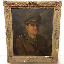 Fine Portrait d'un officier par Malcolm Haylett 1947 huile sur toile militaire